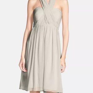 Jenny yoo Keira convertible strapless chiffon gown